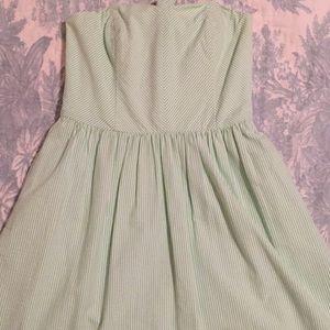 Lilly Pulitzer strapless seersucker dress